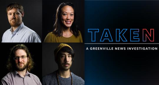 The TAKEN team: Nate Cary, Anna Lee, Mike Ellis and Josh Morgan.