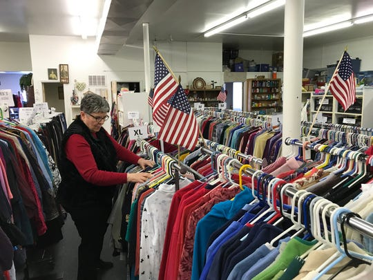 """Sandee McKenna, a volunteer at Emilie Center, said """"good clean clothes"""" are available at the store, for free. """"If we wouldn't wear it, we wouldn't want to give it away,"""" she said. Clients receive vouchers from outside organizations such as schools, churches, Benefis Health Systems and service organizations to shop at the center."""