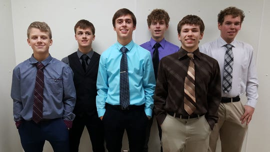 The Power Pirates' three sets of brothers, from left to right, are Spencer and Ben Lehnerz, Nicholas and Jackson Widhalm, and Gaice and Gaije Blackwell.