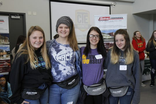 "The Sletten Construction fanny packs were a hit at the ""Girls in STEM"" event"