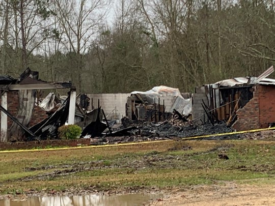 Greater New Life Apostolic Faith Church on Wisteria Drive in Hattiesburg was destroyed by fire on Thursday, Feb. 14, 2019.