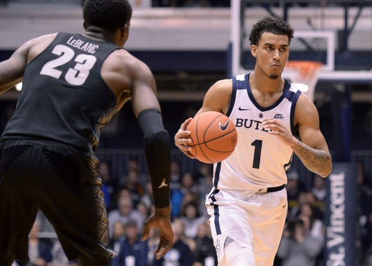 Jordan Tucker's first season with Butler has seen ups and downs.