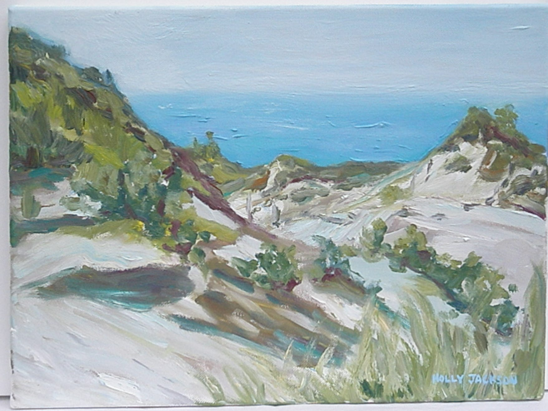 Holly Jackson painted this scene of the Indiana Dunes, which was provided by the Indiana Dunes Convention and Visitors Bureau.