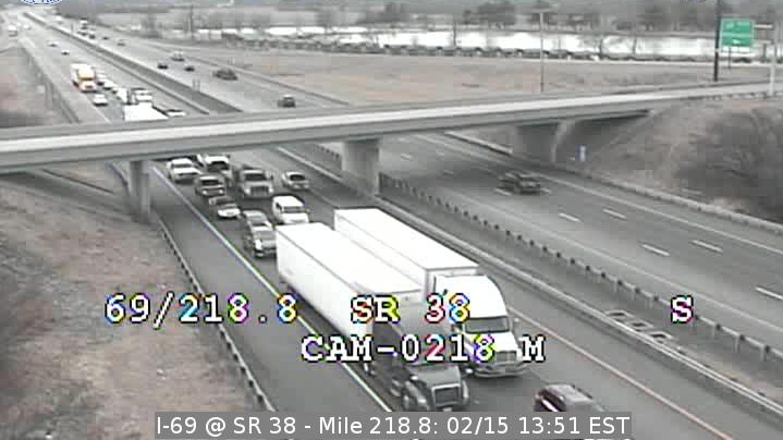 Indianapolis Traffic: I-69 N Near Pendleton Sees Major Delays