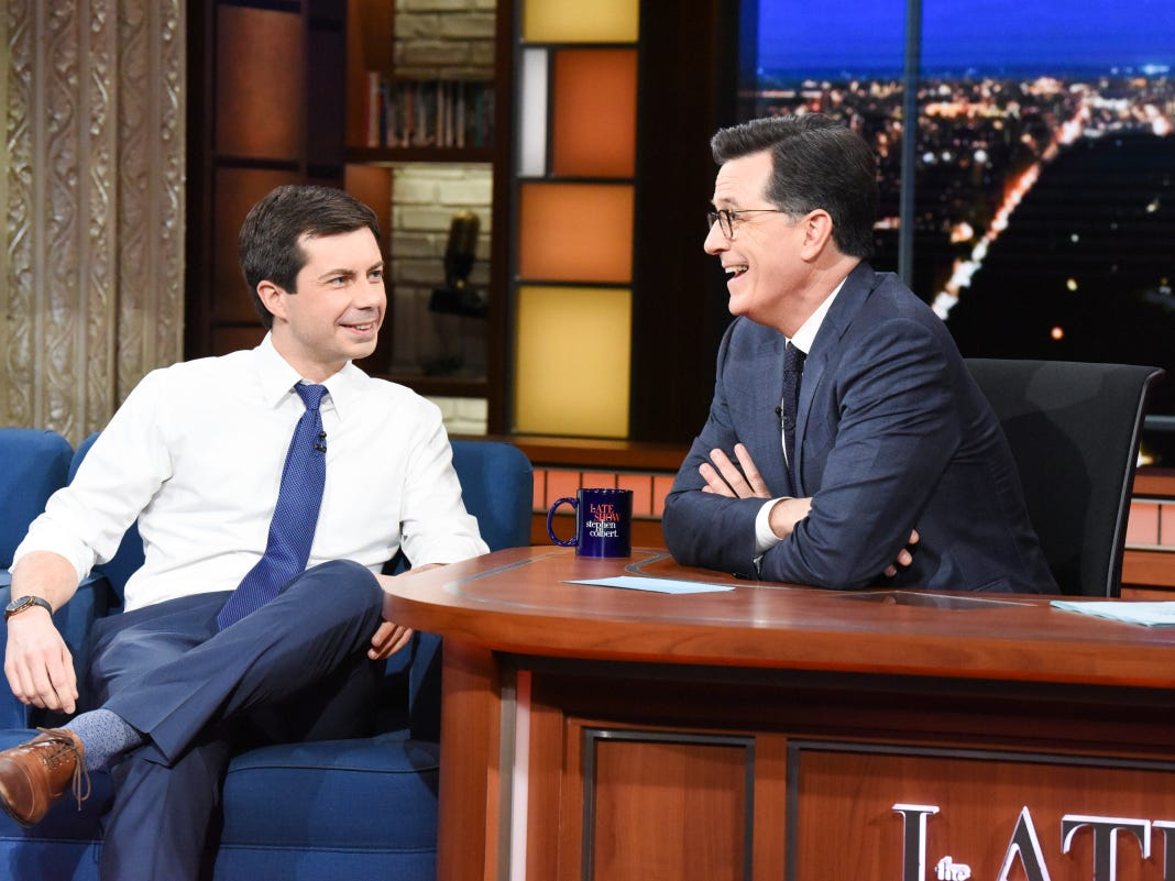 Mayor Pete Buttigieg talks Mike Pence, 2020 presidential bid with Stephen Colbert