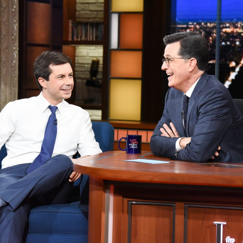 Mayor Pete Buttigieg talks Mike Pence, 2020 presidential bid with Stephen Colbert