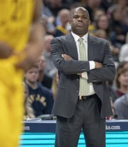Nate McMillan watches his Pacers defeat Atlanta, 116-108, on Dec. 31, 2018.