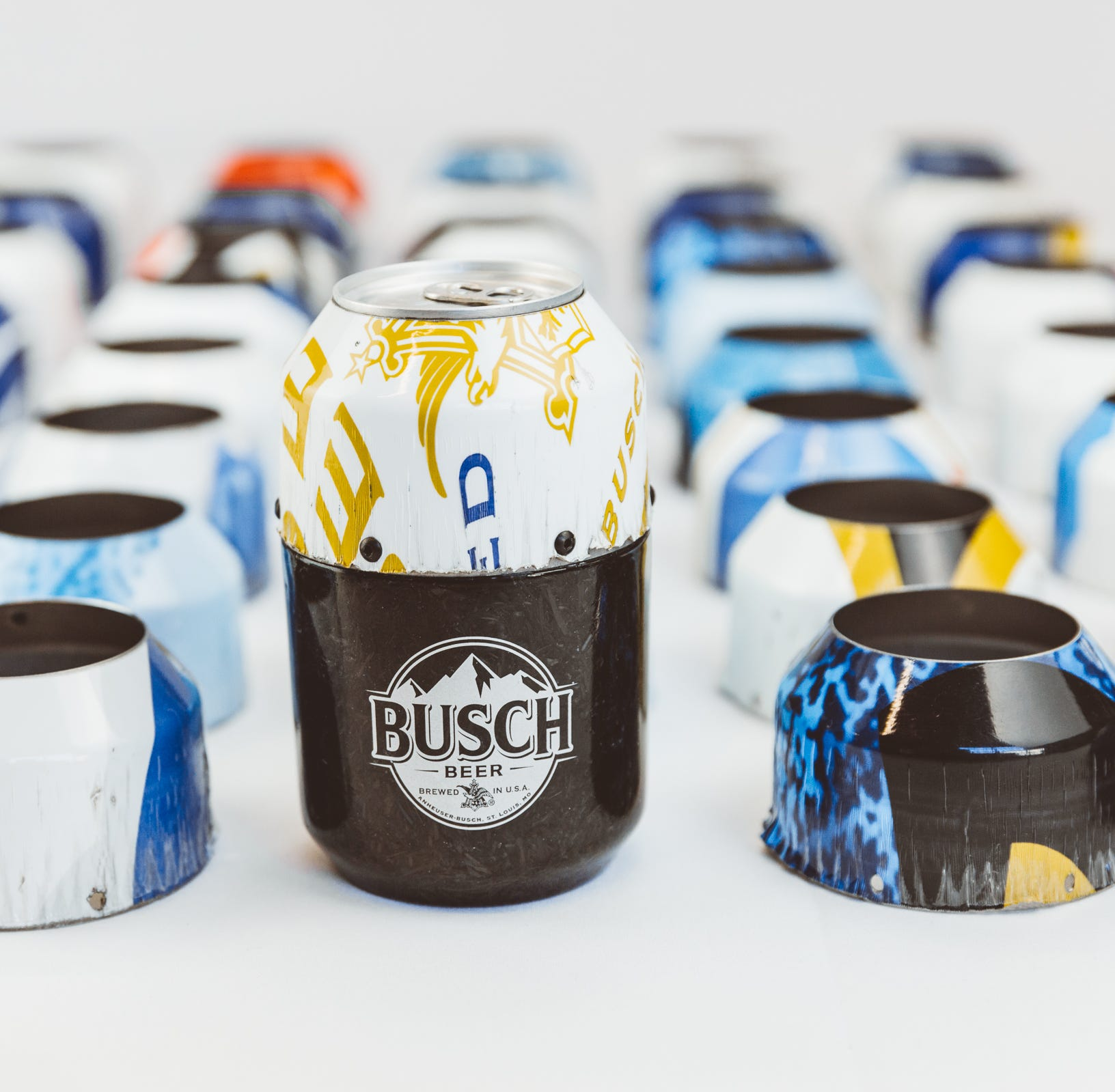 Ithaca company uses Kevin Harvick's NASCAR race car to make Busch beer cans