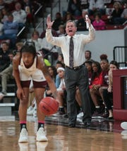 Mississippi State head coach Vic Schaefer's team suffered its second loss of the season against Missouri on Thursday night at Humphrey Coliseum.  Photo by Keith Warren