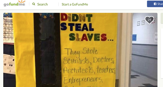A Moss Point teacher's door honoring Black History Month went viral. Now, she's asking for donations via GoFundMe to help educate her students about Black History Month.