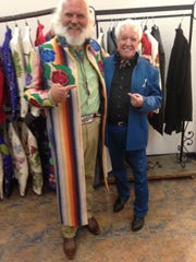 """Cowboy Phil"" Rupp modeling a jacket made by country music's famed designer Manuel, also shown here. Oct. 11, 2013."