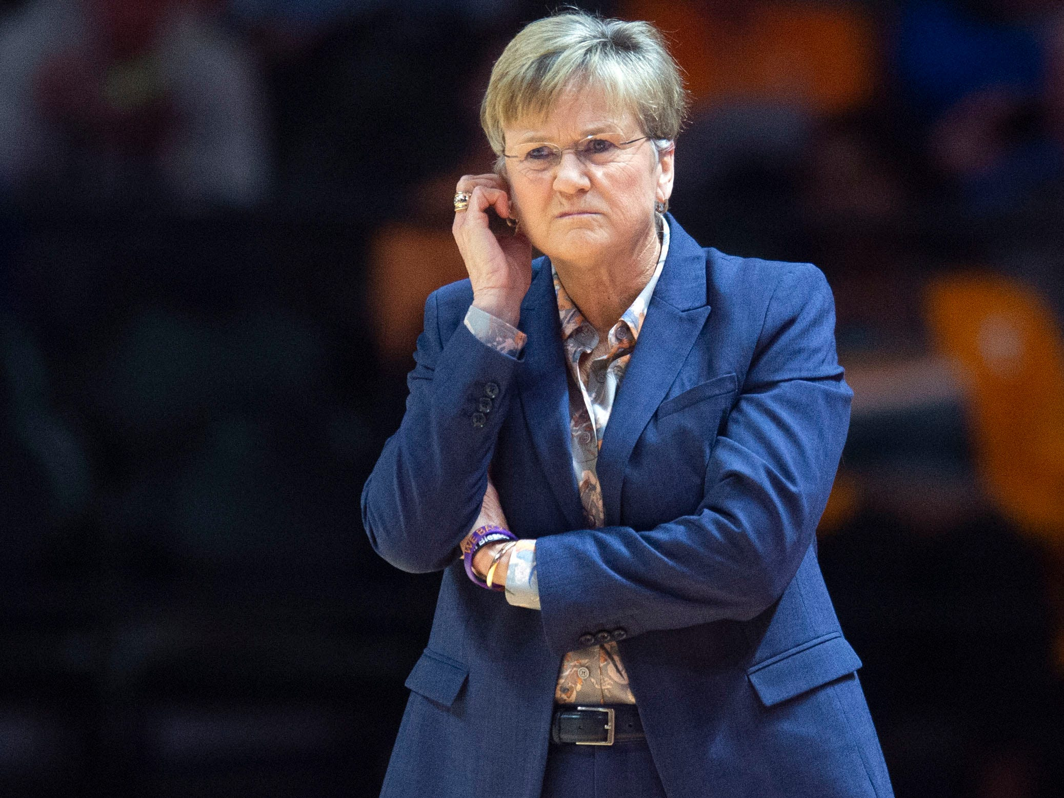 Tennessee women's basketball coach Holly Warlick during the game against Auburn on Thursday, February 14, 2019.
