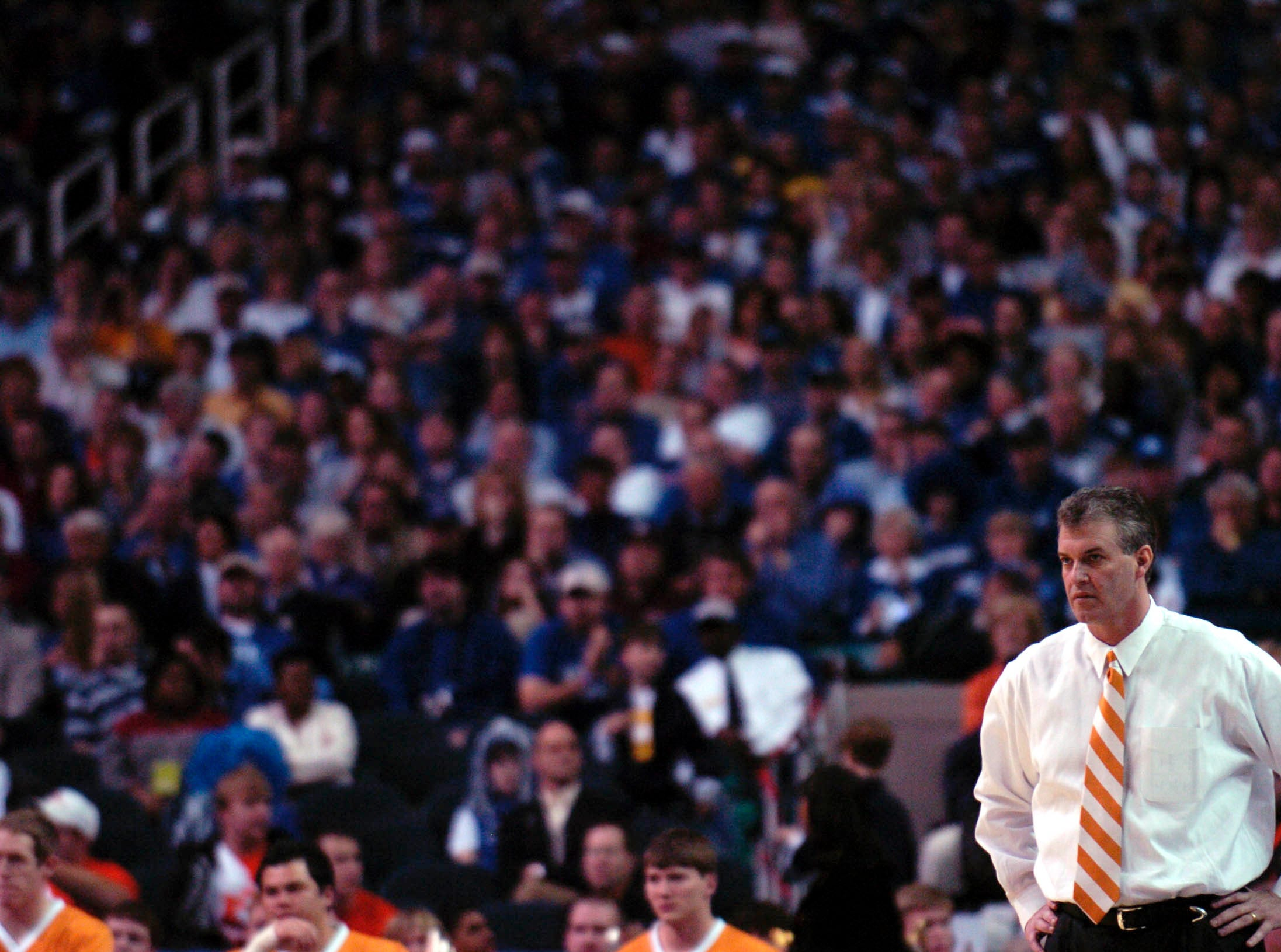 Tennessee head coach Buzz Peterson during the SEC quarterfinal game against Kentucky. 2005