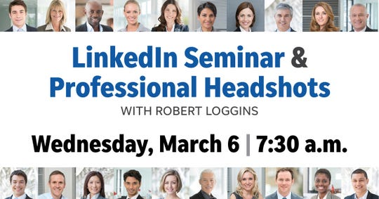 Knox.biz and Young Professionals of Knoxville are hosting a LinkedIn seminar and professional headshots workshop at 7:30 a.m. March 6 at the Knoxville News Sentinel.