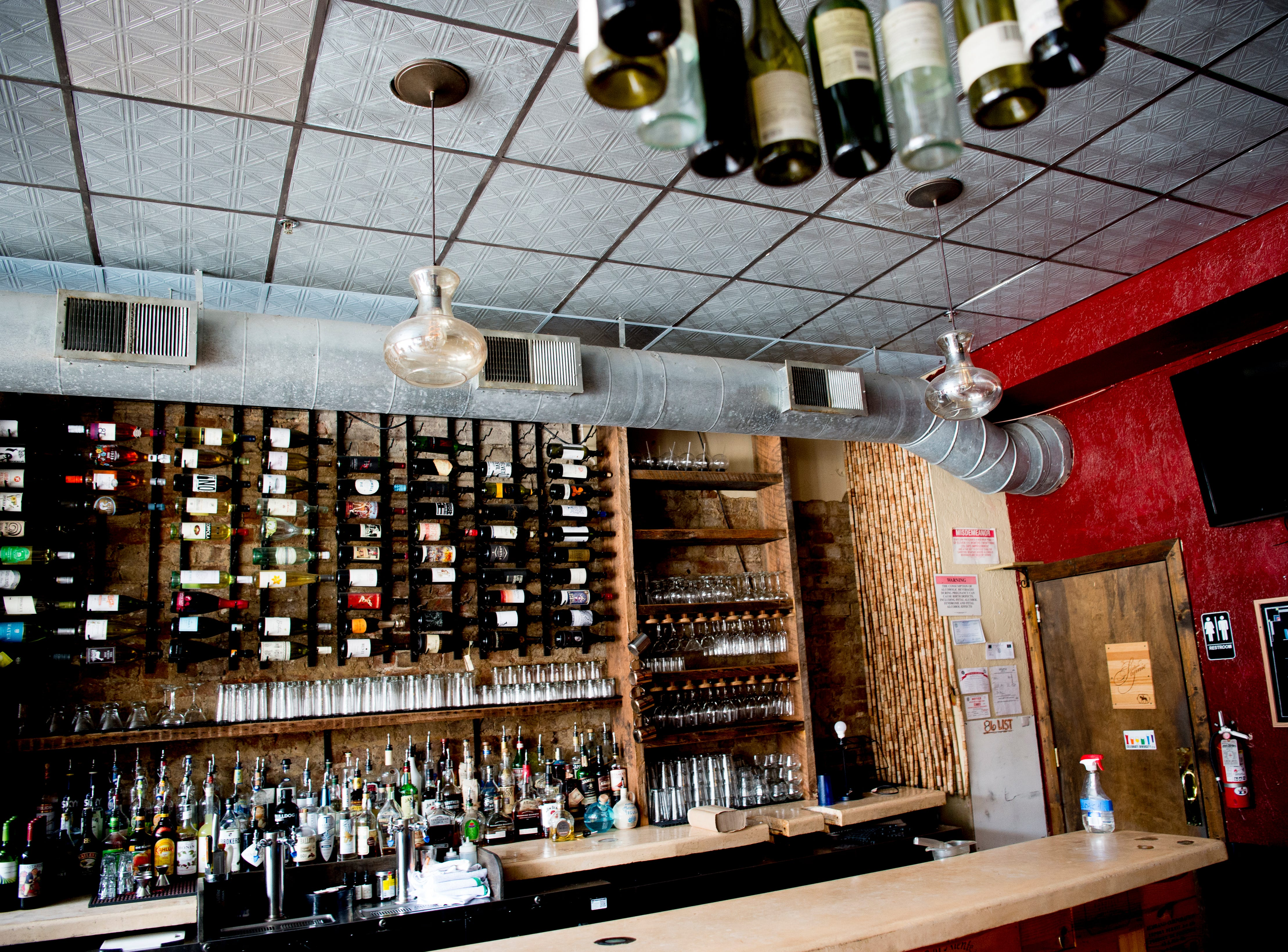 The bar inside Uncorked in Knoxville, Tennessee on Friday, February 15, 2019. Owner Scott West is replacing Uncorked with The Lost Tavern, a true crime-themed bar featuring upscale bar food, music from the 1940s in a dim, intimate setting.