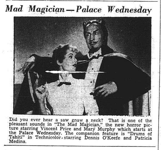 This promotion ran in the May 3, 1954 Eagle-Gazette.
