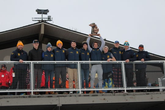 Hartland won its first regional championship in boys skiing on Thursday, Feb. 14, 2019 at Mt. Brighton.