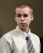 Joshua Young during the fourth day of his murder trial in the death of Trey Zwicker  on August 5, 2013.