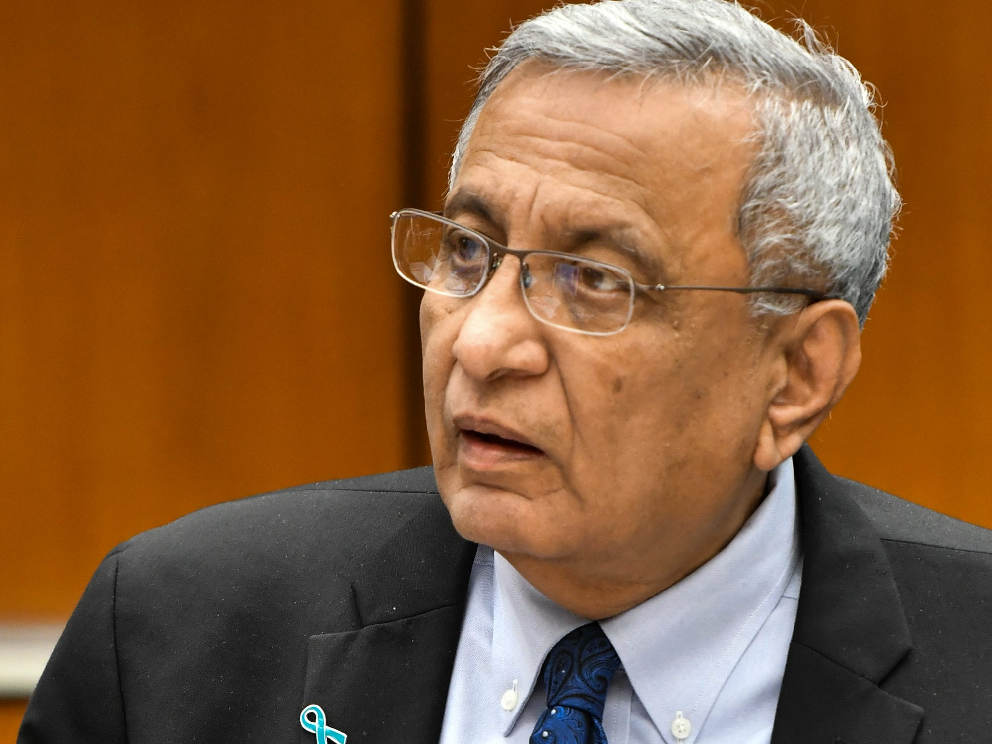 MSU interim President Satish Udpa made a formal apology to victims of former MSU and USA gymnastics doctor Larry Nassar, Friday, Feb. 15, 2019, at the Board of Trustees meeting in the Hannah Administration building.  His apology was followed with applause.