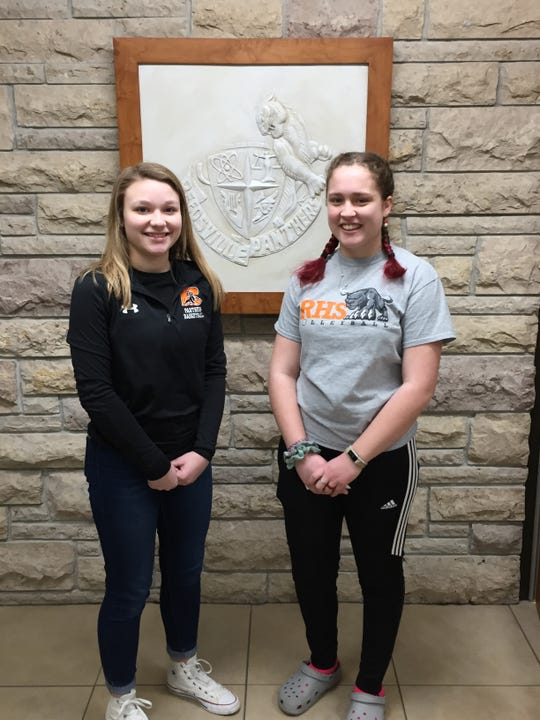 Reedsville High School students of the month for January were Kaitlin Taddy and Amara Strenn.