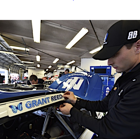 Grant Reed's name added to Nationwide race car No. 88