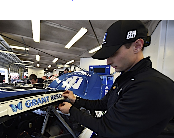 Grant Reed's name will be featured on the Nationwide No. 88 car in the Daytona 500 to honor his fight against cancer. Reed, a Clear Fork High School senior, died Feb. 10.