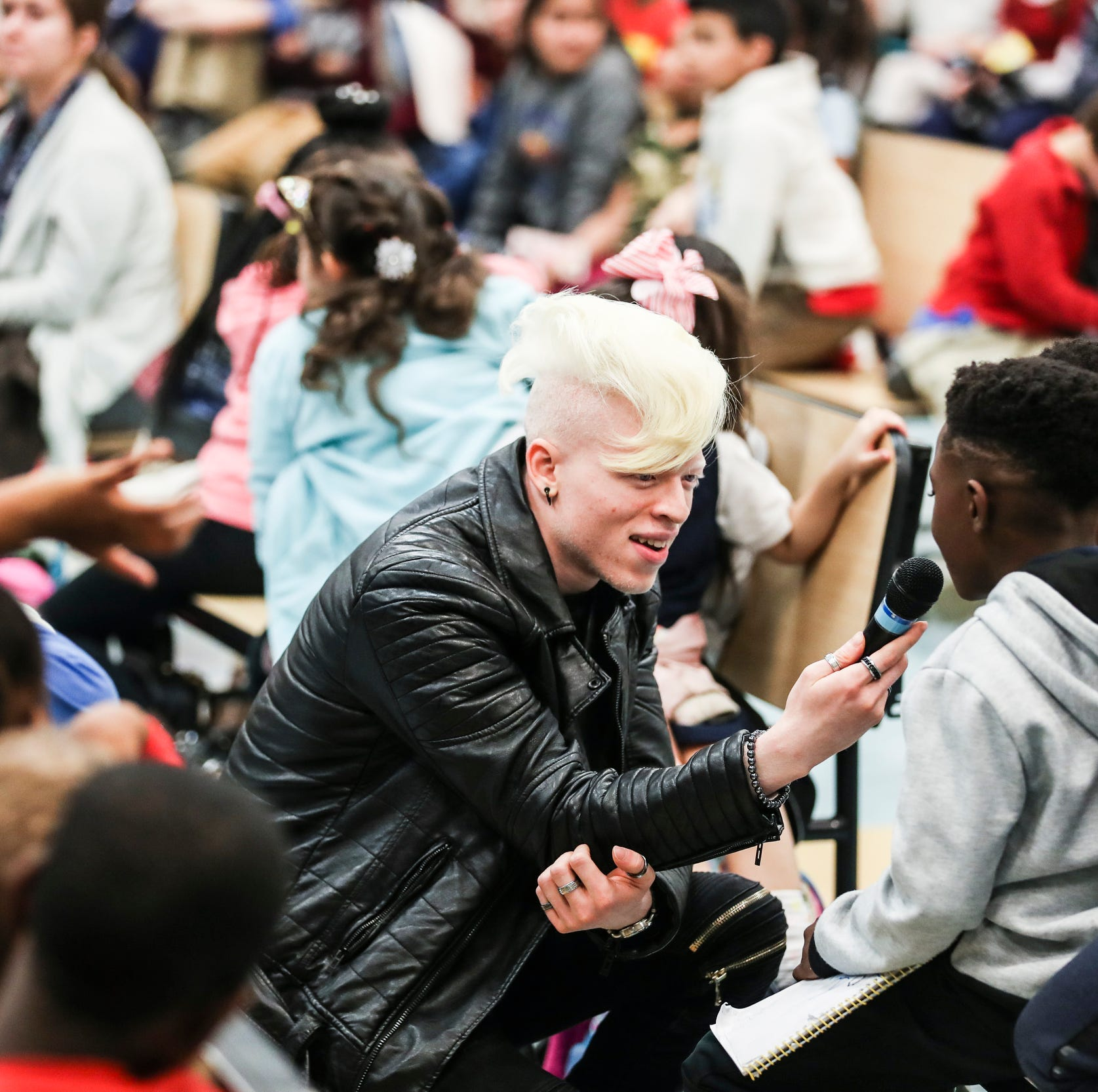 Memphis rapper Roben X, bullied over albinism, is showing others how to fight back with art