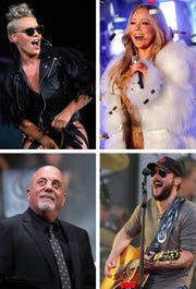 It'll be an especially strong concert season in Milwaukee this spring, with such stars as (from top left corner) Pink, Mariah Carey, Eric Church and Billy Joel coming to town.