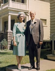 Ron Schwartz on his wedding day, Aug. 14, 1965, with wife Mary Ann Fugina. The couple married in Milwaukee. Ron Schwartz turned 108 on Thursday. Mary died in 2002 at age 96.