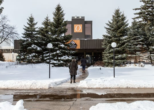 Bargain hunters file into Olympia Resort & Conference Center in Oconomowoc for the opening day of a total liquidation sale on Thursday, Feb. 14, 2019. The current plan for the former hotel is to raze the property.