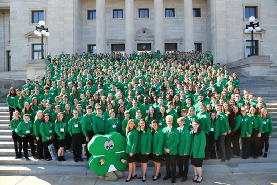 More than 700 youth attended theFeb.12 for4-H Day at the Capital on Tuesday in Little Rock. The biennial event is part of 4-H Citizenship Initiative, giving Arkansas youth face time with lawmakers and helping the 4-H'ers learn how state government works.