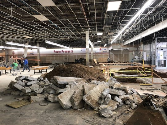 Construction at the site of a new Pathmark grocery store schedule to open in Brooklyn, N.Y., in spring 2019. The once-dominant Pathmark chain went into bankruptcy and was liquidated in 2015.