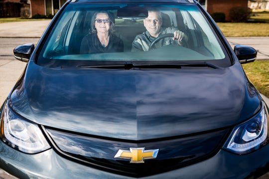 "Muncie locals Rick and Kelly Morris switched to driving an all-electric Chevy Bolt after exclusively driving gas fueled vehicles. Rick said the car charges to ""full tank"" in about nine hours and had the option of a third-tier charger upgrade that would fully charge the vehicle in one hour."