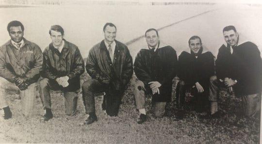 Gallatin High School's 1970-71 coaching staff, from left: Sammy Jackson, Bob Goodridge, head coach Jim Barron, Ray Barnes, Jim Hall and Jerry Vradenburg