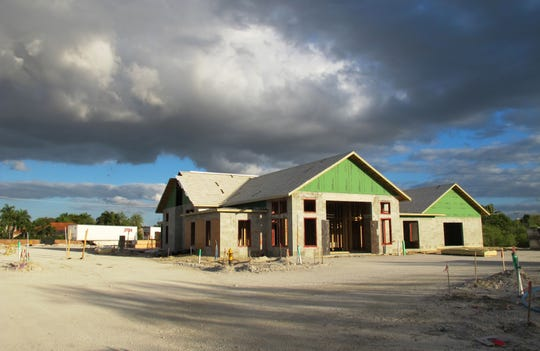 The clubhouse under construction at the Versol apartment complex being built along Bonita Crossings Boulevard in Bonita Springs.