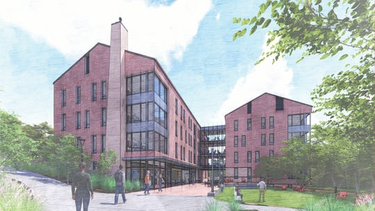 A rendering of Silverstein Hall, coming to Denison University.