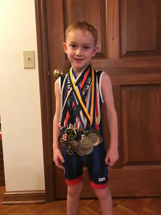 Heath first-grader Alex Judd recently won a state wrestling title.