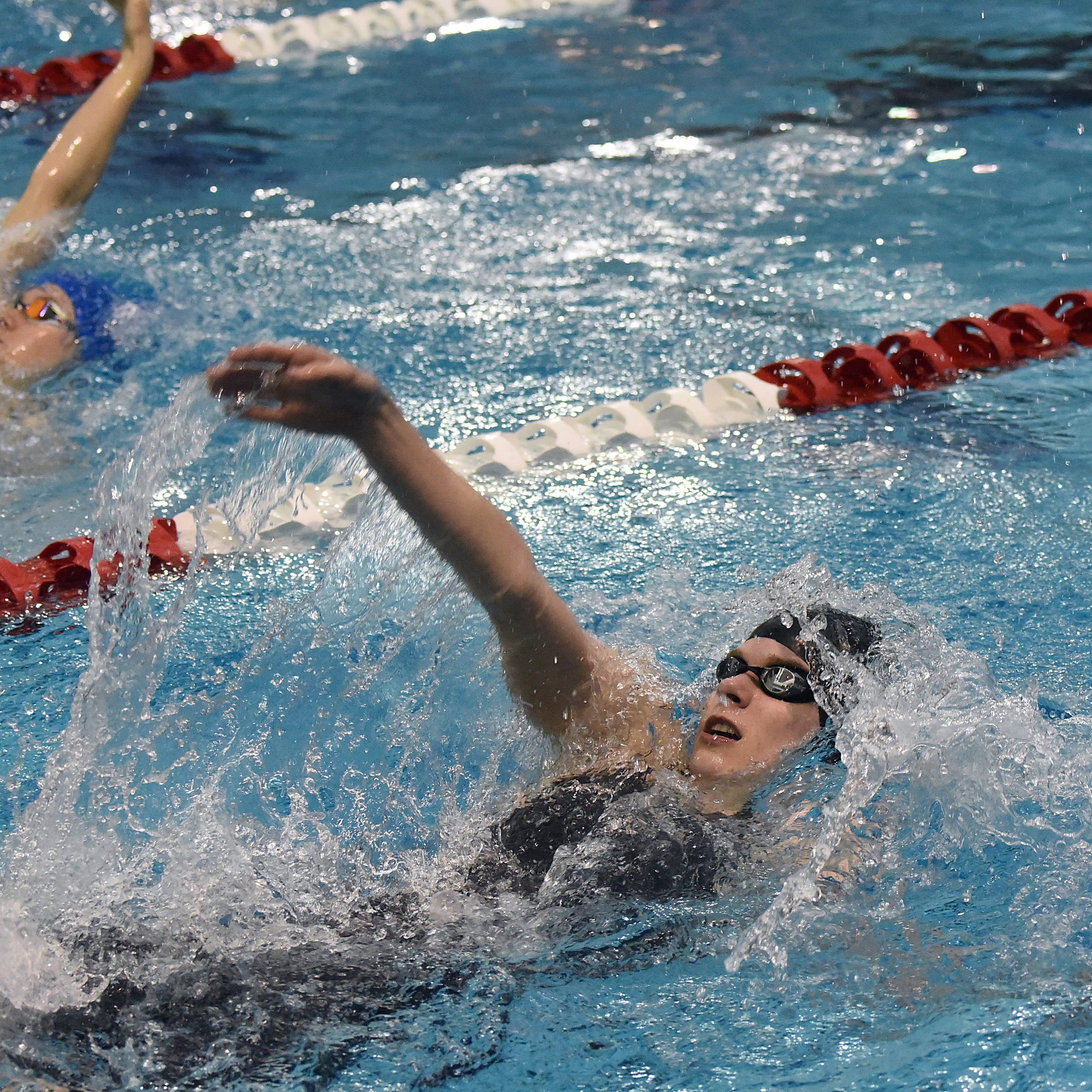 Northridge's Bunstine, Granville's White persevere, swim to state