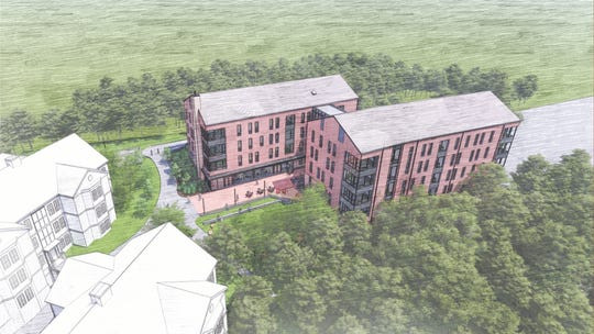 An overhead view of the planned Silverstein Hall.