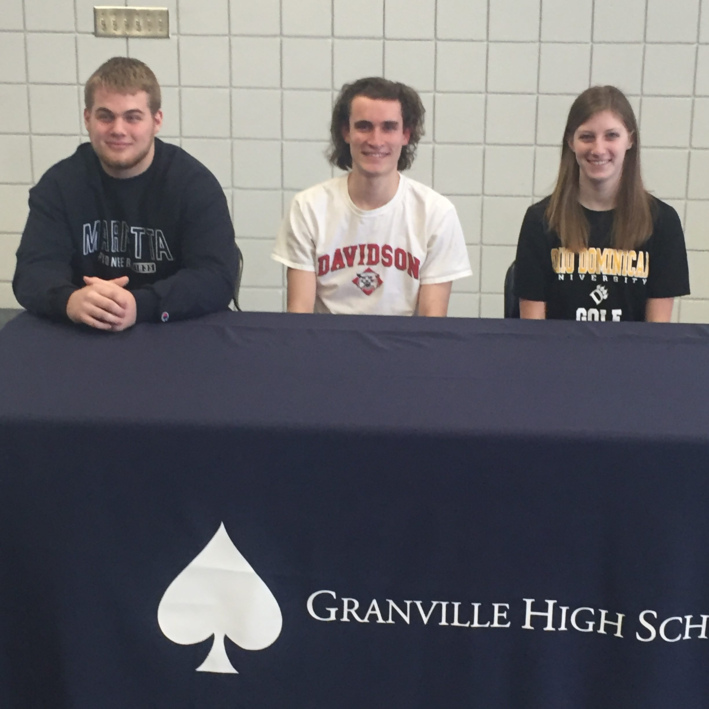 Trio of Granville senior athletes pick destination