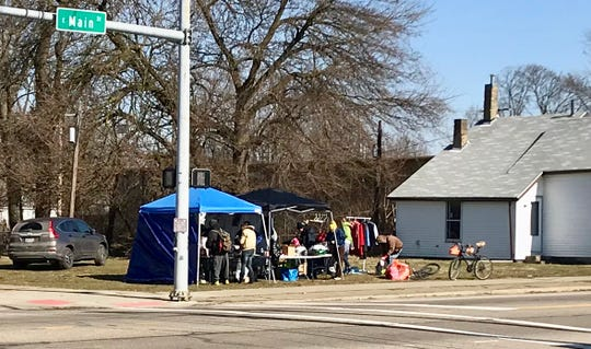 Newark Homeless Outreach provides supplies to the homeless and people in need every Saturday at the corner of East Main and Buena Vista streets.