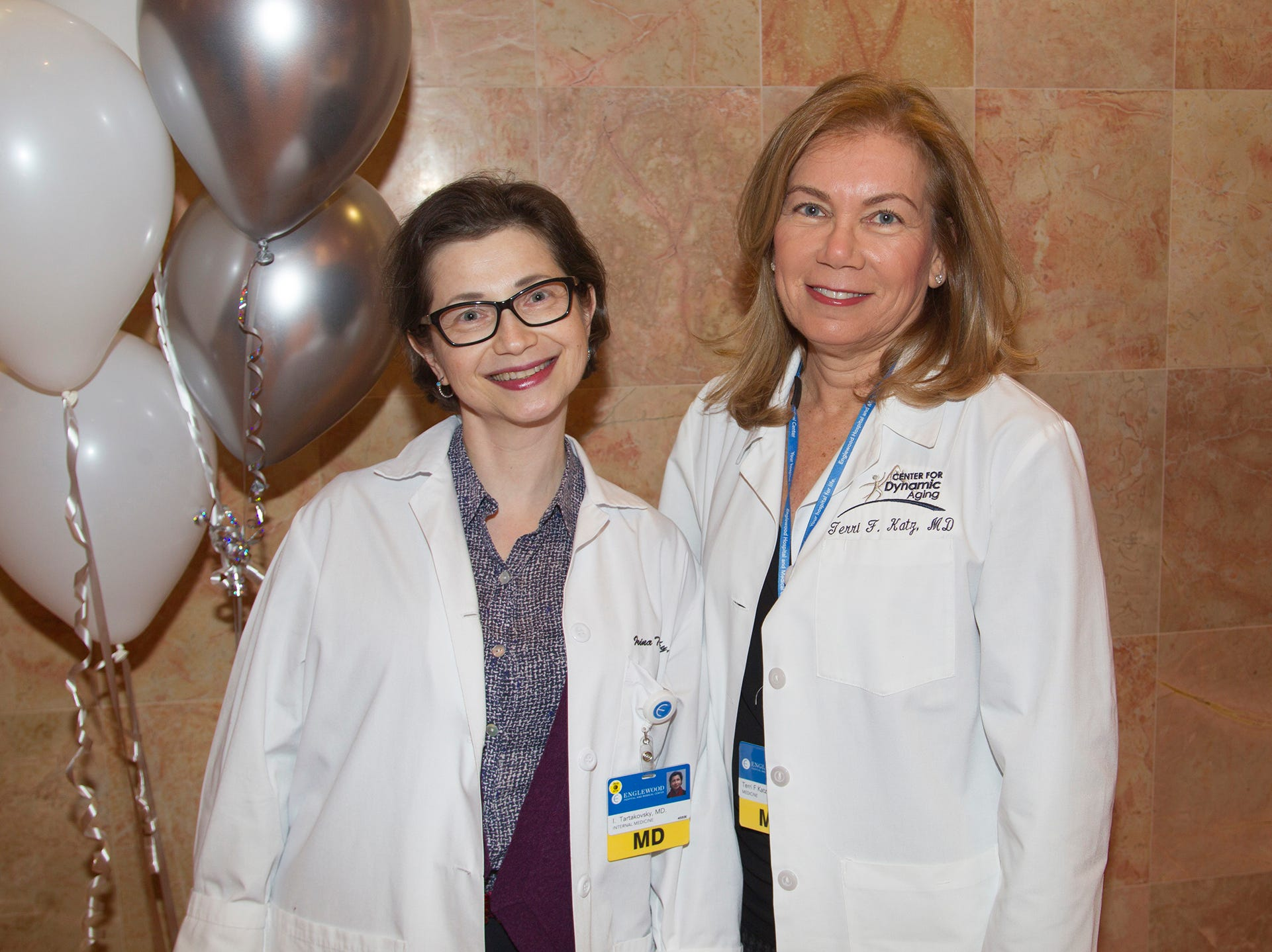 Dr.Irina Tartakovsky, Dr.Terri Katz. Englewood Health and Kaplen JCC on the Palisades sponsored a Mind, Body, & Sole - a women's health & fitness social night at Kaplen JCC on the Palisades in Tenafly.02/13/2019