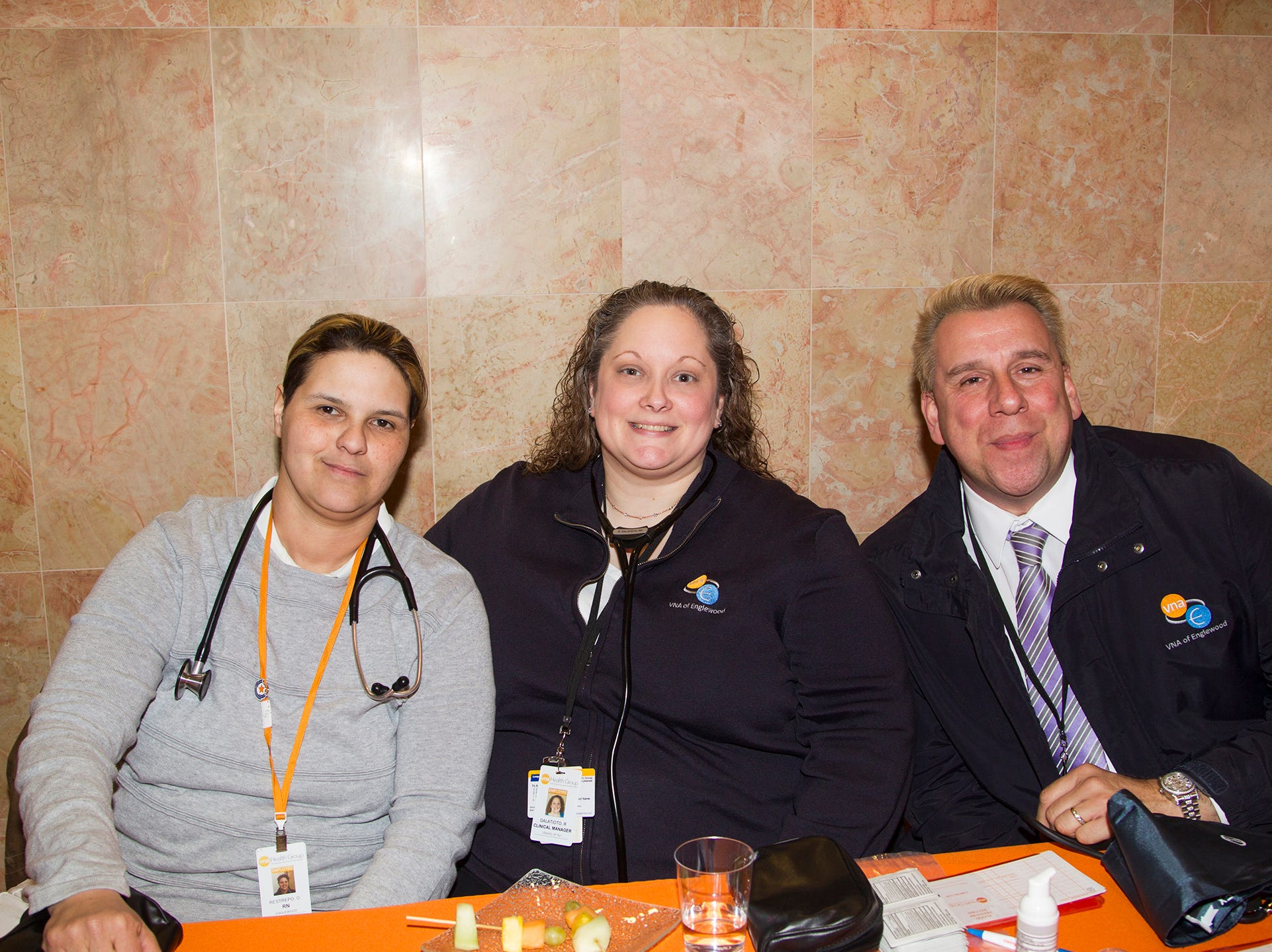 Oriana Restrepo RN, Renee Galatioto RN, Bill Ioannou Business Development. Englewood Health and Kaplen JCC on the Palisades sponsored a Mind, Body, & Sole - a women's health & fitness social night at Kaplen JCC on the Palisades in Tenafly.02/13/2019