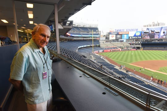 Newark-born Tom Giordano, shown in July 2018 at 92 years old, was the oldest active scout in baseball. Giordano died Thursday, Feb. 14, 2019 at age 93. Giordano was stricken in December with a blood infection, said his daughter, Gail Przeclawski. He died at her home in Orlando, Florida, after the family decided against further treatment.