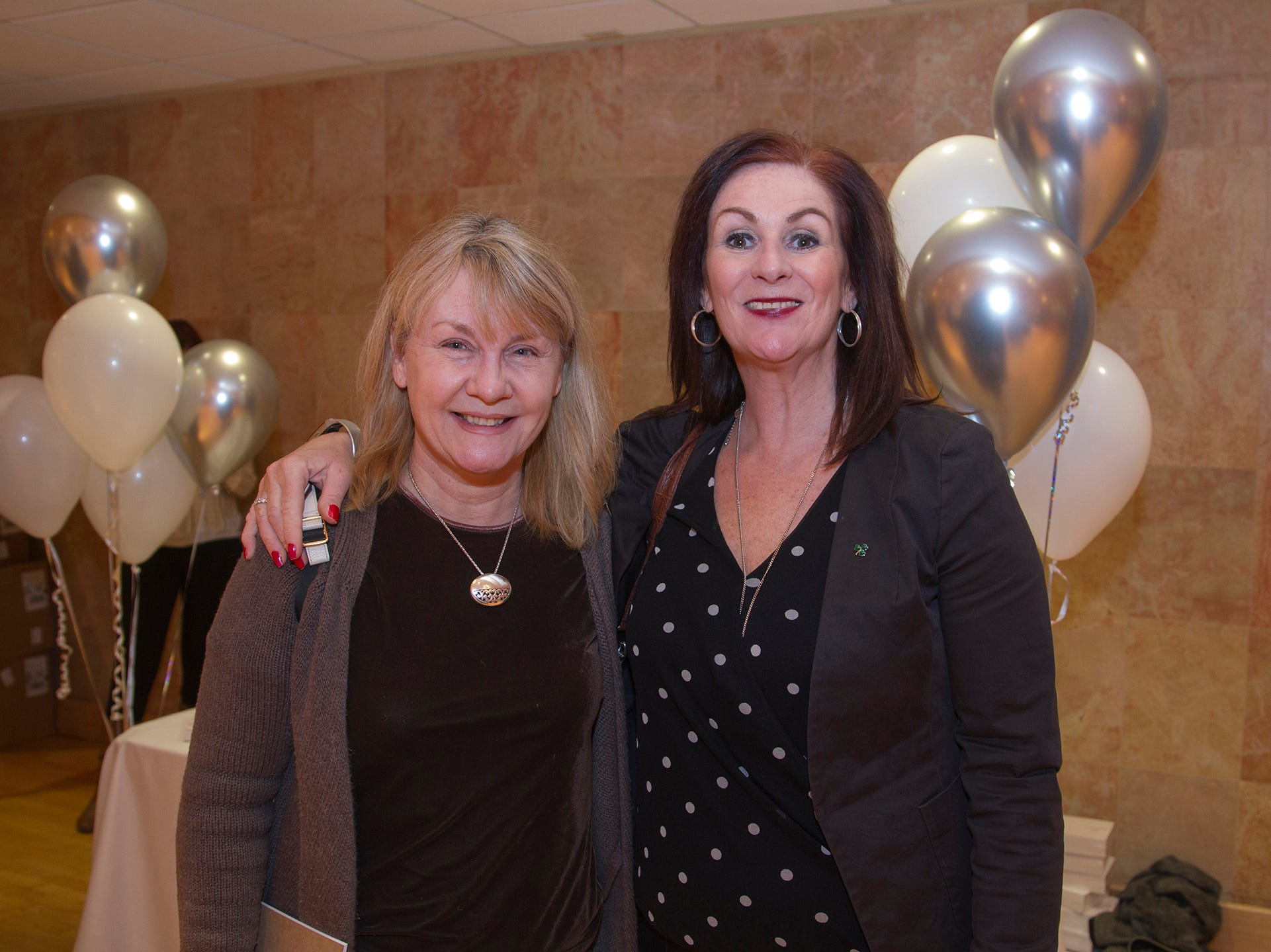 Maryellen Mullarkey, Edel Connolly. Englewood Health and Kaplen JCC on the Palisades sponsored a Mind, Body, & Sole - a women's health & fitness social night at Kaplen JCC on the Palisades in Tenafly.02/13/2019