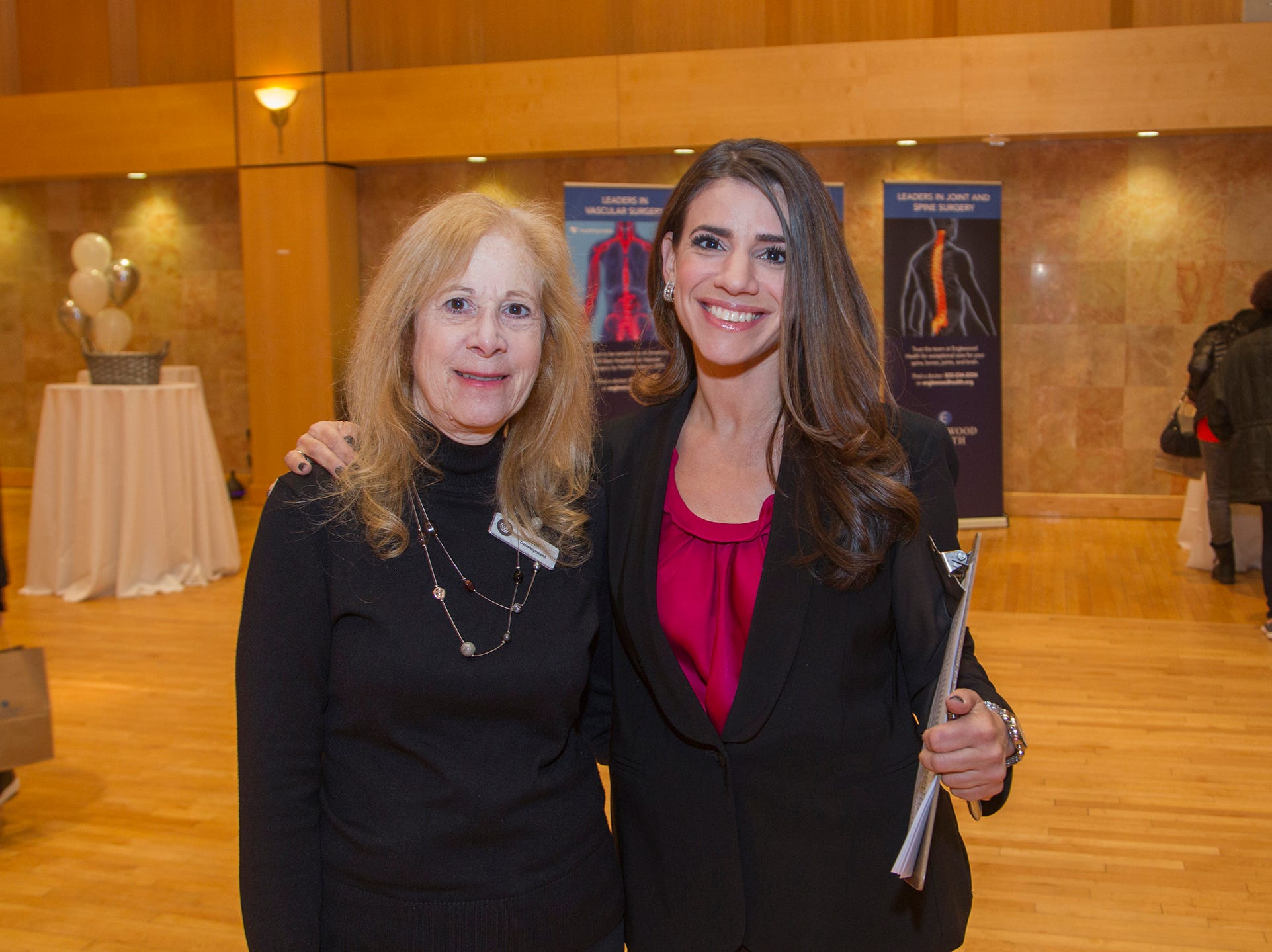 Fran Koszer, Alison Holzberg. Englewood Health and Kaplen JCC on the Palisades sponsored a Mind, Body, & Sole - a women's health & fitness social night at Kaplen JCC on the Palisades in Tenafly.02/13/2019