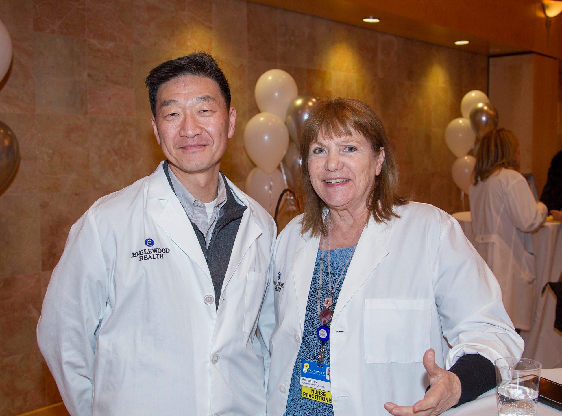 Dr.Sam Bae, Patricia Mazzola. Englewood Health and Kaplen JCC on the Palisades sponsored a Mind, Body, & Sole - a women's health & fitness social night at Kaplen JCC on the Palisades in Tenafly.02/13/2019