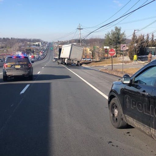 Most lanes closed on Route 17 in Ramsey after truck brings down wires
