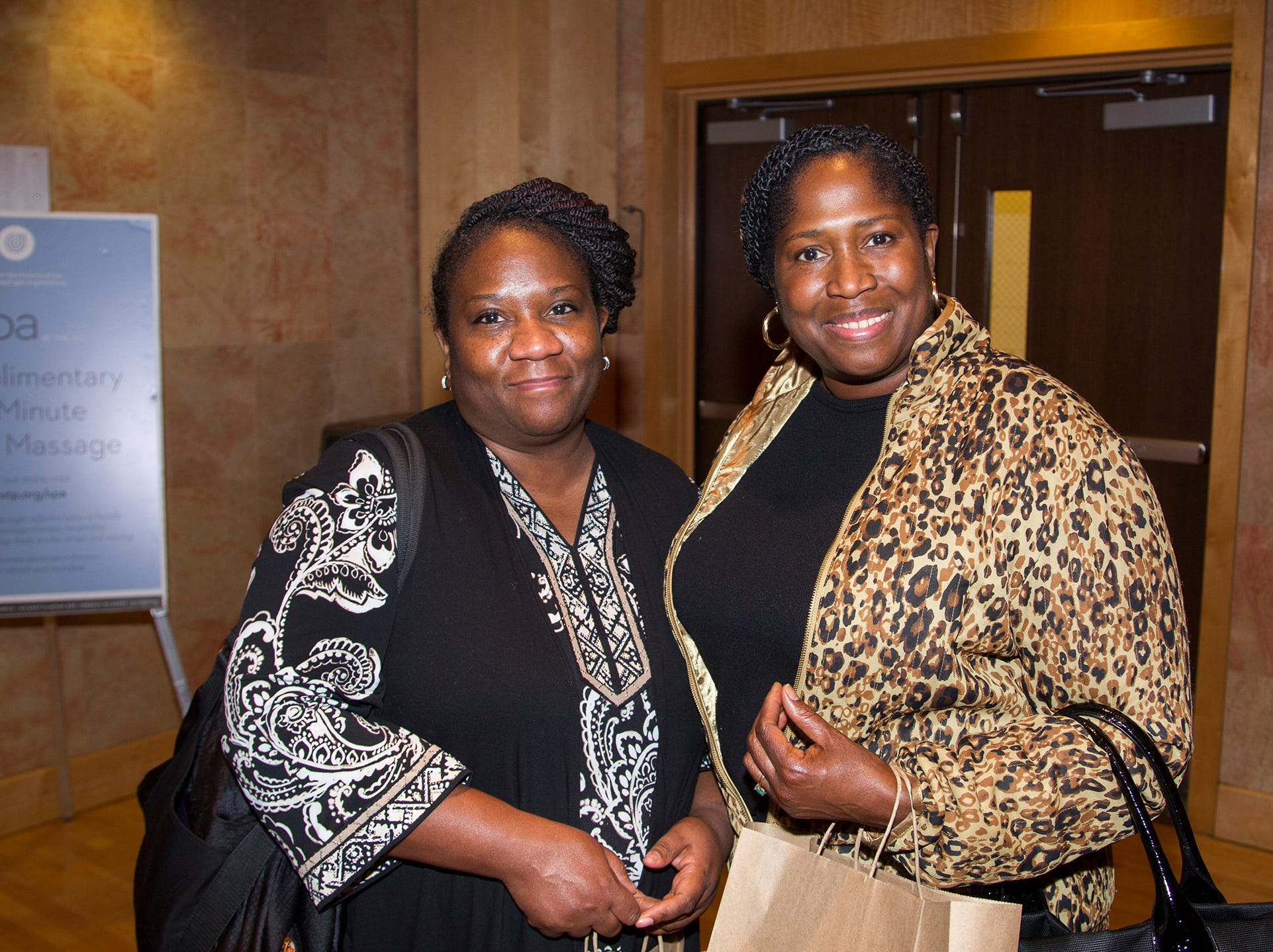 Vickie Jones, Florenda Jones. Englewood Health and Kaplen JCC on the Palisades sponsored a Mind, Body, & Sole - a women's health & fitness social night at Kaplen JCC on the Palisades in Tenafly.02/13/2019
