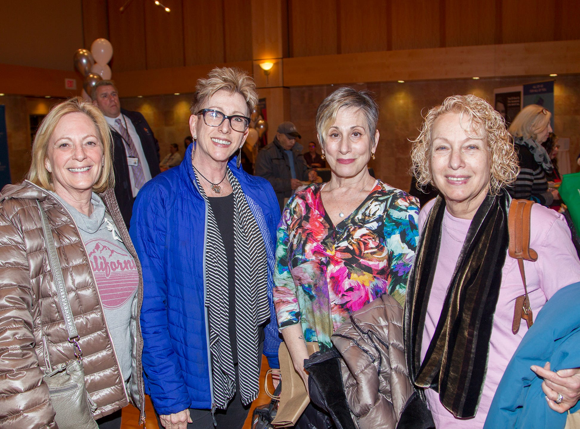 Ilene Levine, Lesley Rafes, Robin Harvison, Joan Laiser. Englewood Health and Kaplen JCC on the Palisades sponsored a Mind, Body, & Sole - a women's health & fitness social night at Kaplen JCC on the Palisades in Tenafly.02/13/2019